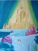 Disney Little Mermaid Castle Mural