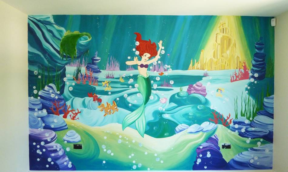 Disney Little Mermaid Mural