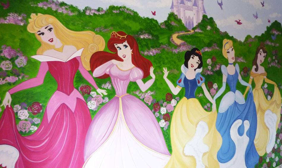 Disney Princess Mural (2)