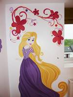 Disney Princess Rapunzel Mural