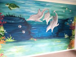 Dolphin And Turtle Mural