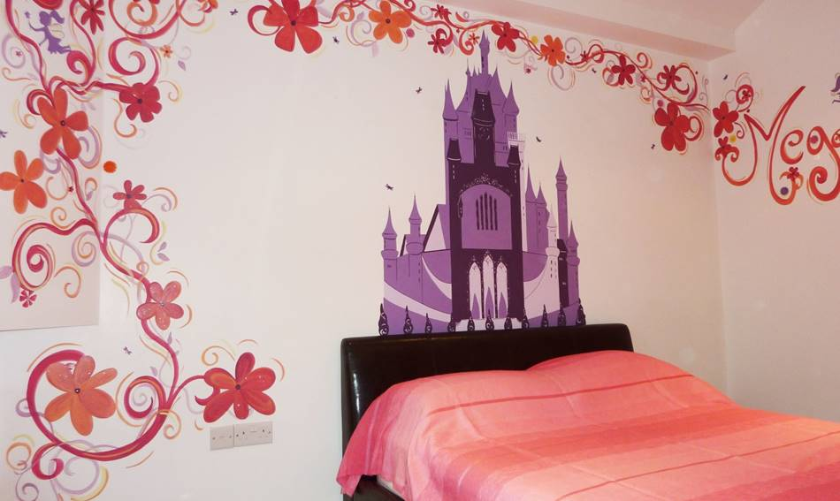 Flower Fairy Castle Mural
