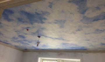 Fluffy Clouds Ceiling Mural