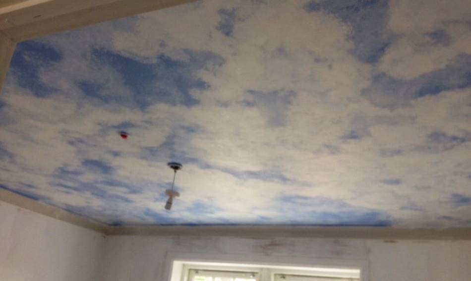 Fluffy Cloud Mural