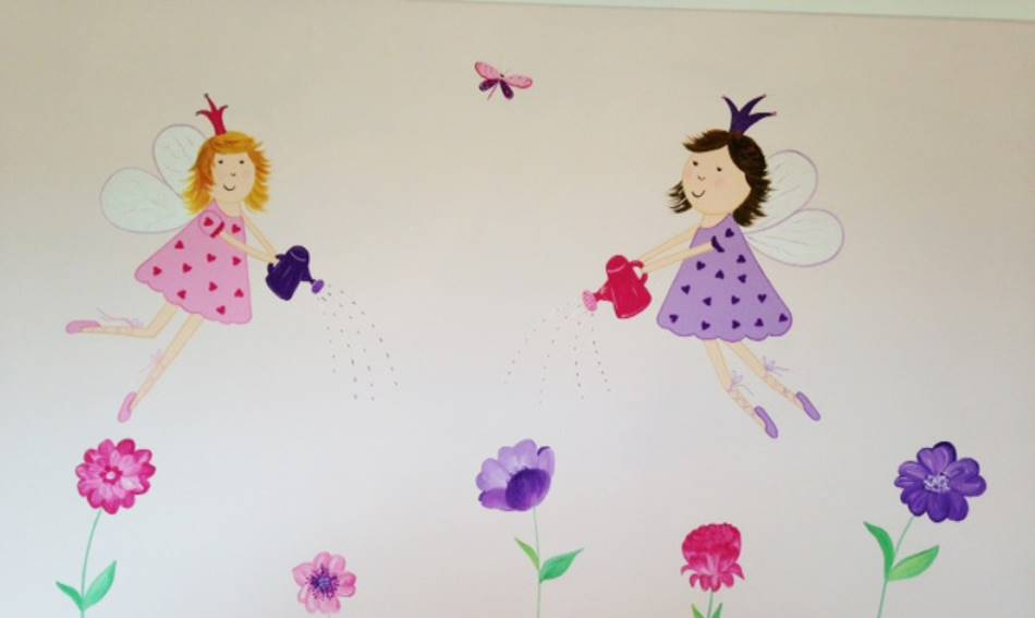 Flying Flowers Fairies Mural