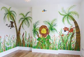 Happy Jungle Animal Mural