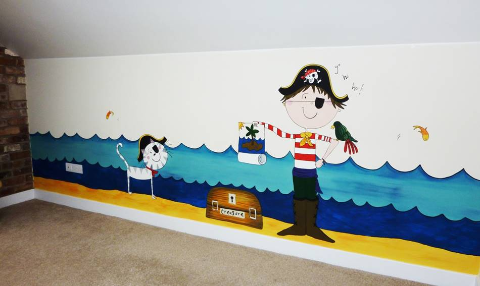 Happy Pirate Mural