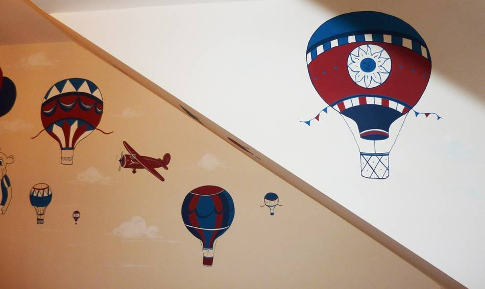 Hot Air Balloon Mural