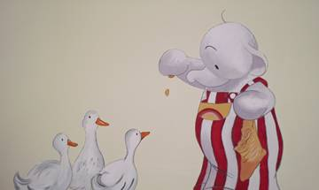Elephant & Ducks Feature Mural