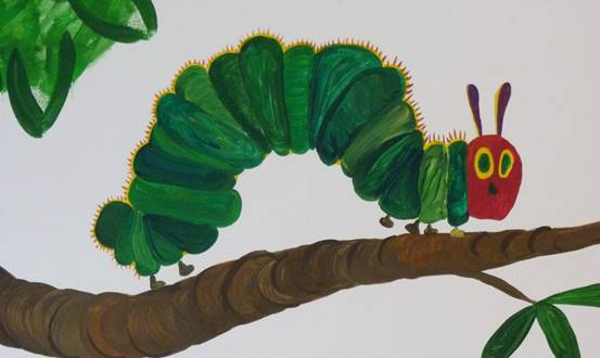 Hungry Caterpillar Tree Mural