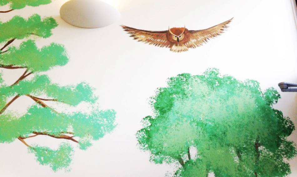 Owl And Woodland Mural