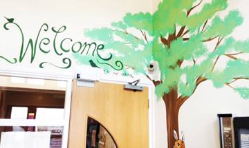 Green Haworth Primary School – Woodland Murals