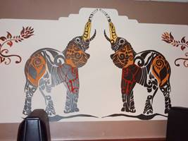 Indian Elephant Mural