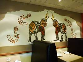 Indian Restaurant Elephant Mural