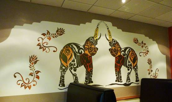 Lagan Indian Restaurant, Indian Elephant Wall Mural
