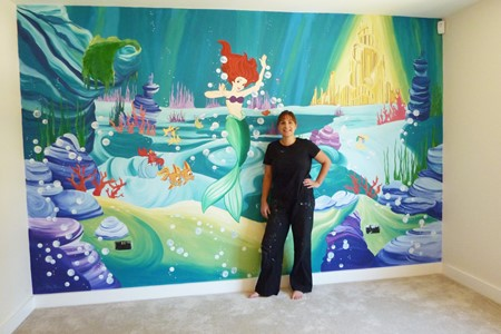 Joanna perry murals hand painted murals mural artist for Extra mural courses