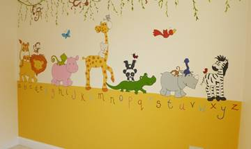 Jungle Alphabet Wall Mural