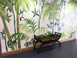 Jungle Palm Entrance Hall Mural