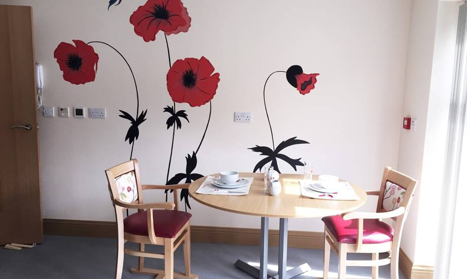 Kitchen Poppy Mural