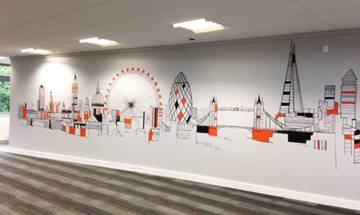 London City Skyline Wall Mural