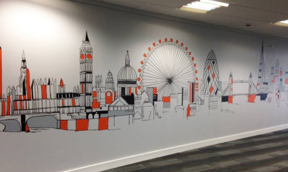 London City Skyline Mural