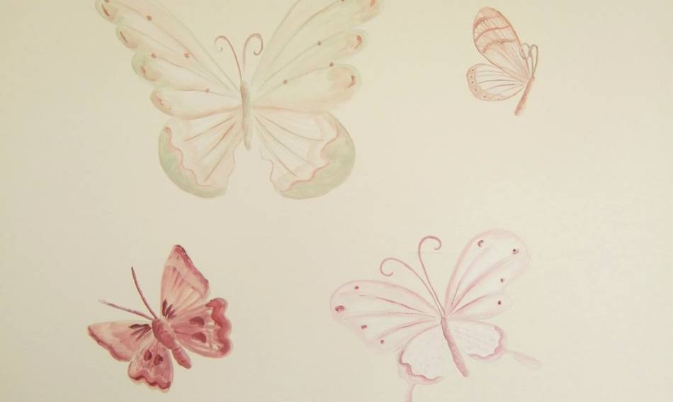 Soft Butterflies Mural