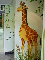 Jungle Giraffe Mural (1)