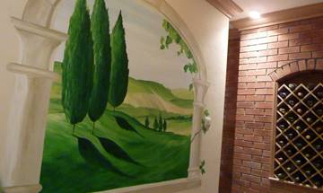 Tuscany Vista Window Mural