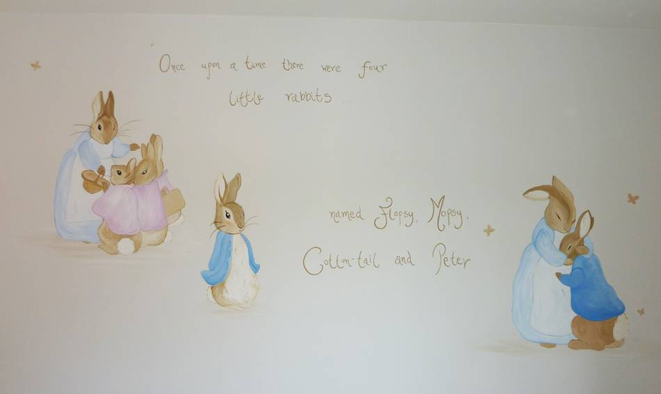 Peter Rabbit Wall Mural