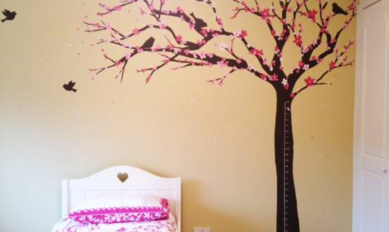 Pink Blossom Tree Mural
