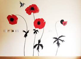 Poppy & Hummingbird Mural