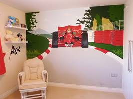 Racing Car Wall Mural