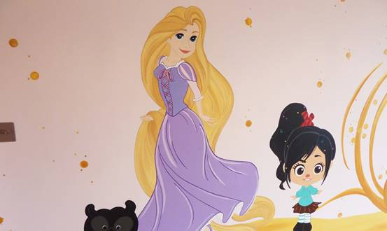 Disney Cinderella And Other Characters Mural