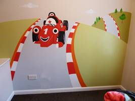 Roary The Racing Car Mural