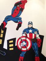 Spiderman & Captain Amercia Mural