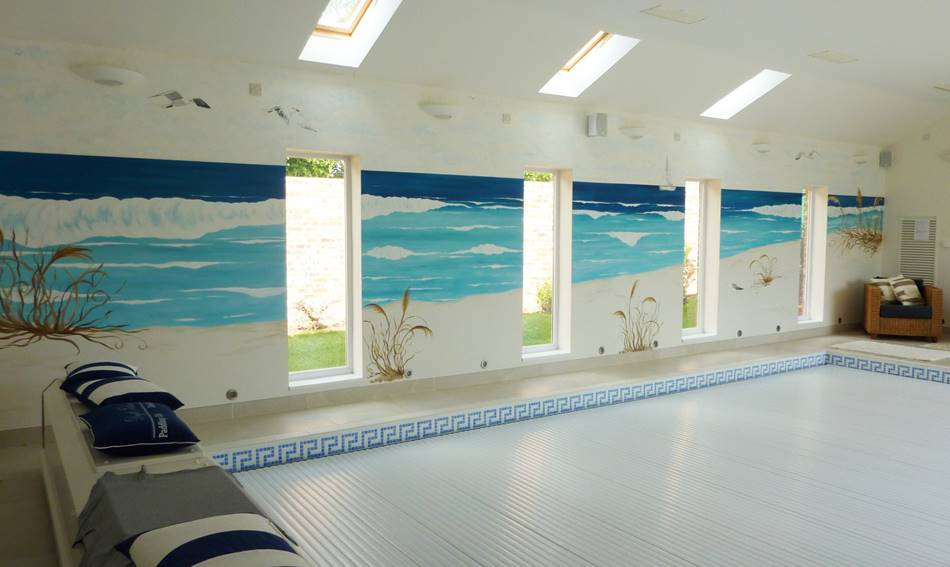 Swimming Pool Room Mural