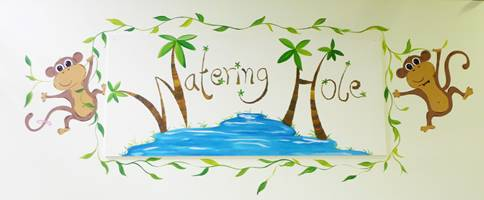 Watering Hole Sign Mural