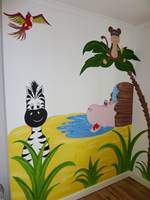 Zebra Jungle Mural