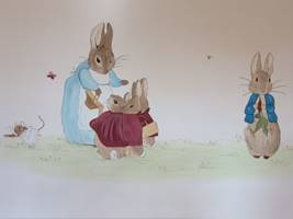 Peter Rabbit And Mummy Mural