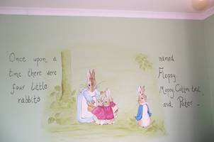 Peter Rabbit and Bunnies Mural
