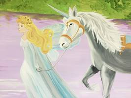 Princess And Unicorn Mural
