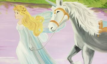 Princess Unicorn Castle Mural