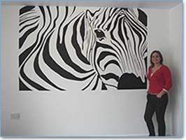 Zebra And Joanna Mural