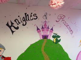 Knights & Princesses Mural