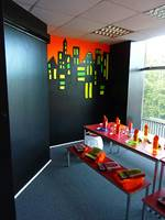 Glow In The Dark City Mural