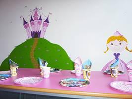 Knight And Princess Party Room Mural