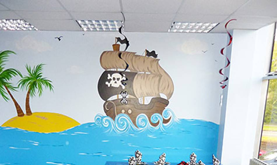 Pirate Party Room Mural