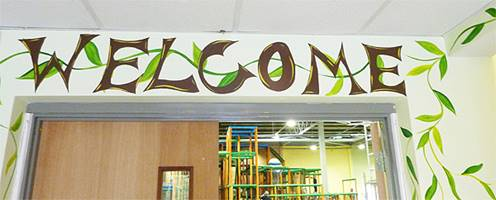 Welcome Sign Mural