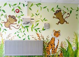 Entrance Hall Jungle Mural