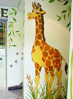 Play Barn Giraffe Mural